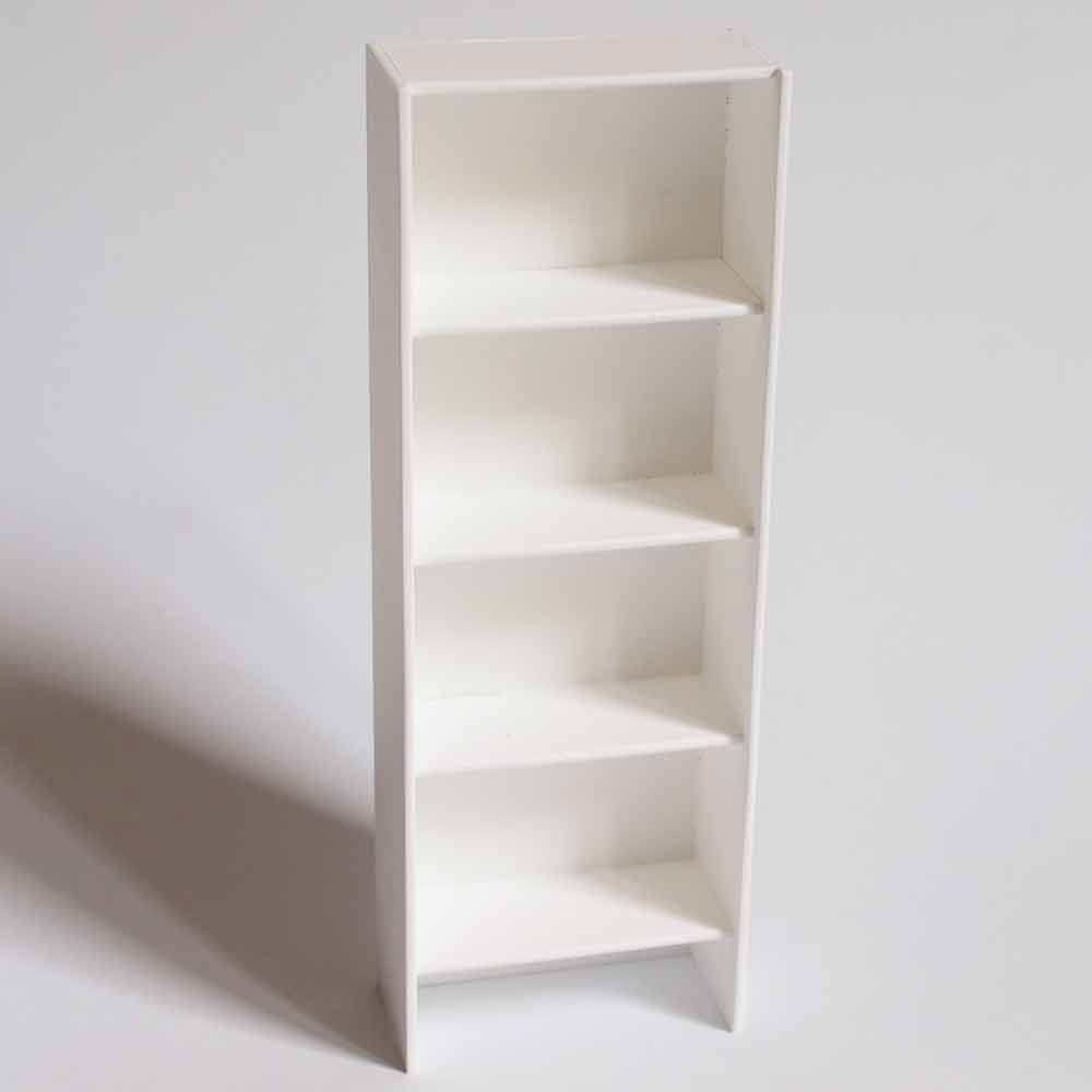 Compra miniaturas modernas estanter a blanca para casas de for Estanteria bano blanca