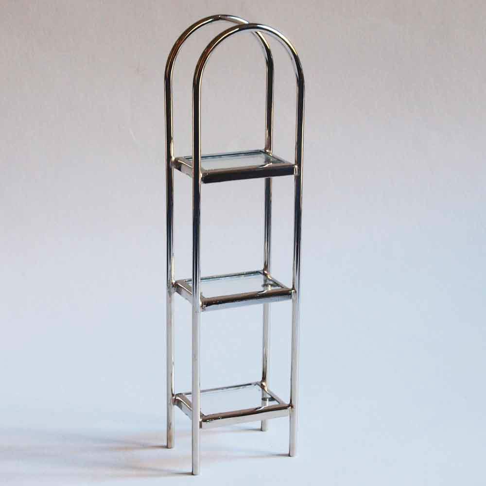 Compra miniaturas modernas estanter a de metal para casas de mu ecas Estanterias de metal