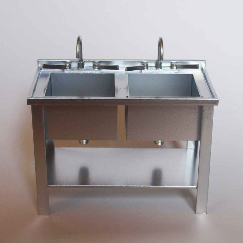 Lavabo doble metal for Lavabo doble