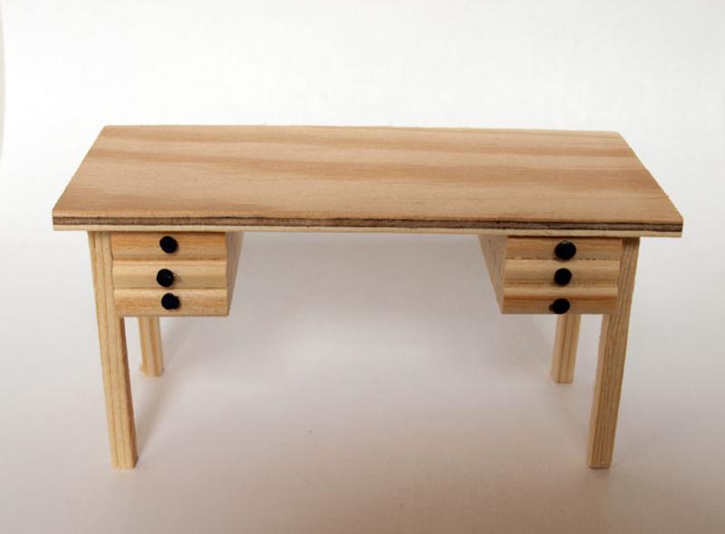 Compra miniaturas modernas mesa con cajones para casas de - Mesas con cajones ...